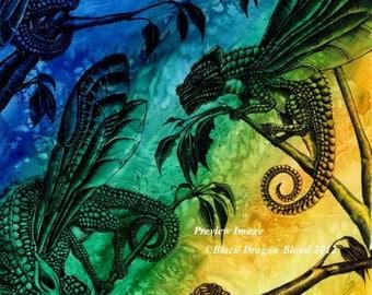 Dragonfly Chameleons fine art print