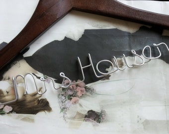 Saturday SALE only 5 available / Personalized Wedding Hanger/ Brides Hanger/ Bride/ Name Hanger/ Wedding Hanger
