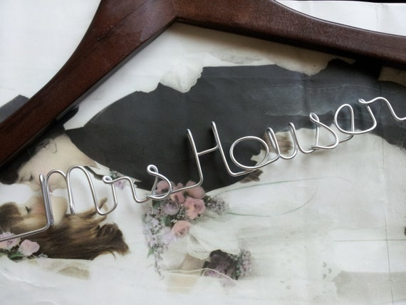 Personalized wedding hanger (Ships within 72hrs, no rush fee)
