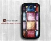 Samsung cases Galaxy SIII Galaxy S3 i9300 Case unique Case Samsung Case colorized metal grain image design