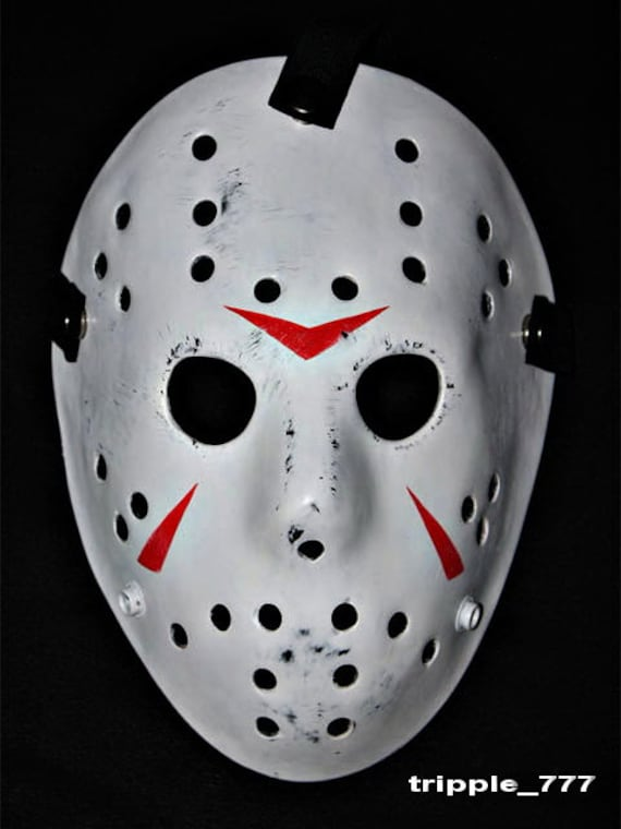 Fiberglass hockey goalie costume cosplay prop mask helmet HALLOWEEN JASON 3 Hangman 13th HO14