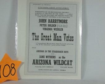 1930s Original Moviehouse handbill