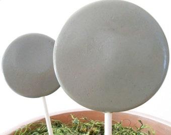 Earl Grey Gourmet Lollipops - Pick Your Size - Party Favors - Wedding Favors - Tea Party - Grey Party