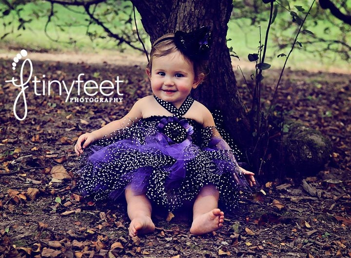 Cute Babies With Purple Dress Traffic Club