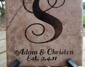 Personalized Wedding or Anniversary Tile WITH STAND - 6x6