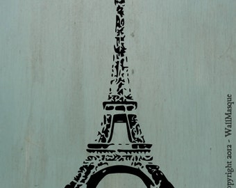"Eiffel Tower Stencil -10"" x 5.8"""