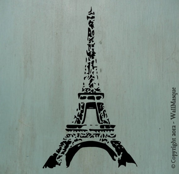 "Eiffel Tower Stencil -10"" x 5.8"""
