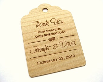 Wooden Tags (50) / Rustic Tags / Wedding Favor Tags / Gift Tags / Hang Tags / Wood tags / Custom tags  - Wood Personalize