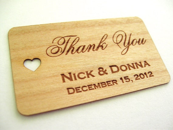 Wood Wedding Gift Ideas: Wood Gift Tags 100 Wedding Favor Tags Wooden Tags By Talathiel