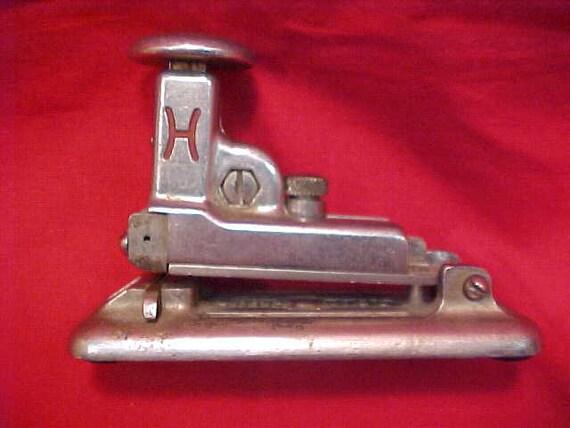 Antique HOTCHKISS Stapler Industrial Office Chic Mercantile Ptd.1918 Cottage Memorabilia