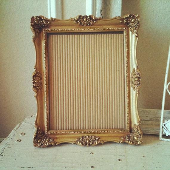 ornate gold frame 8x10 gilded vintage frame beautiful detail hang or sit