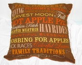 Fall Harvest Pillow Cover