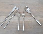 Dansk VARIATION V Japan Modernist Five Pieces Stainless Steel Flatware