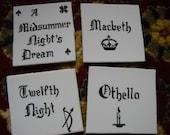 Shakespearean Coasters