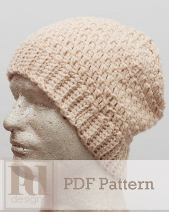 Mens Textured Slouchy Beanie Hat Crochet PDF by ...