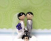 Custom Wedding Cake Topper with 1 Pet Dog, Cat, or Bird