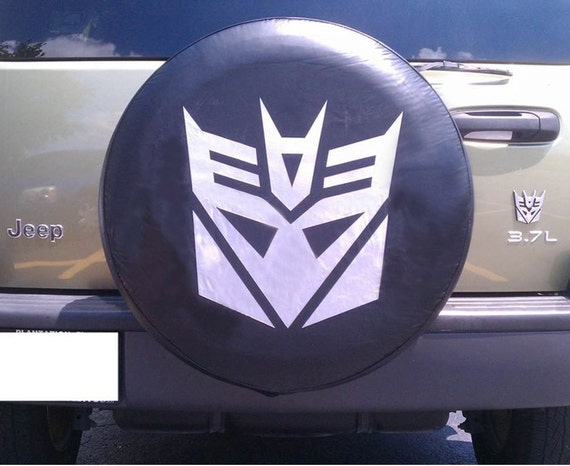Custom Spare Tire Cover Decepticon Transformers