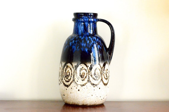 Scheurich: West German pottery floor vase (417-42)