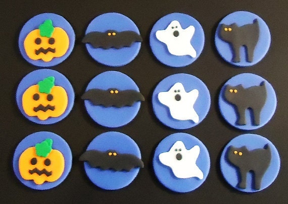 Halloween Cupcake Toppers Fondant Fondant Cupcake Toppers on
