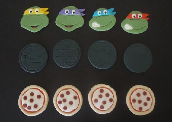 Ninja Turtle Fondant Cupcake Toppers Ninja Turtles Fondant Cupcake