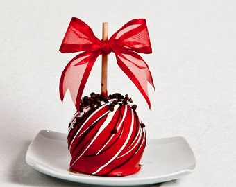 Cherry Chocolate Chip Gourmet Chocolate Caramel Apple