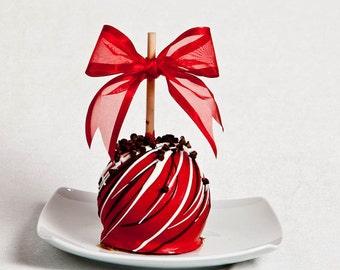 Cherry Chocolate Chip Gourmet Chocolate Caramel Apple