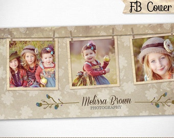 Facebook Timeline Cover Design, Blog Banner Template for Photography,Photographer, Boutique