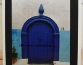 Photograph Card of Door in Morocco  on Card stock