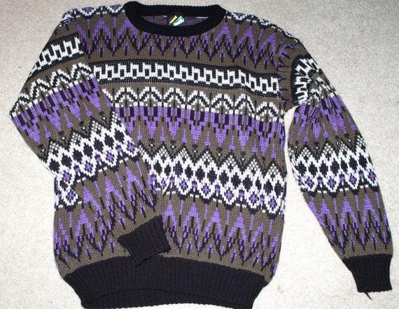 "SALE Vintage ""Ugly"" Sweater - Tribal Style Pattern"