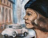 "Premium large (32cm x 32,5cm) Print from my original oil painting ""Chinatown"""
