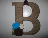Custom Twine Wrapped Letter Monogram or Initial, 10 Inch
