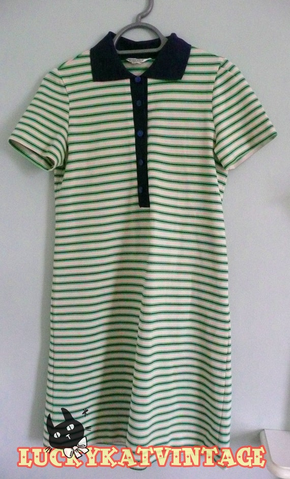 1960s striped t-shirt dress collared, fred perry, mod, indie, hipster