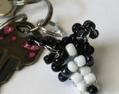 Beaded Keychain - Border Collie