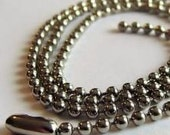 24 BALL CHAINS 30 inches,Great for Necklaces, Scrabble, Tiles ..We sell Stick Hat pin blanks,supplies,Make your own hatpins.