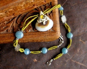 20% OFF - Snake wrapped Agate Necklace