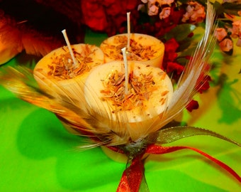 Apple and Oak Moss Soy Votive Candles