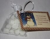 Snowman Poop Tarts - Mini Marshmallows - Snowman Poop Poem - Candle Tarts