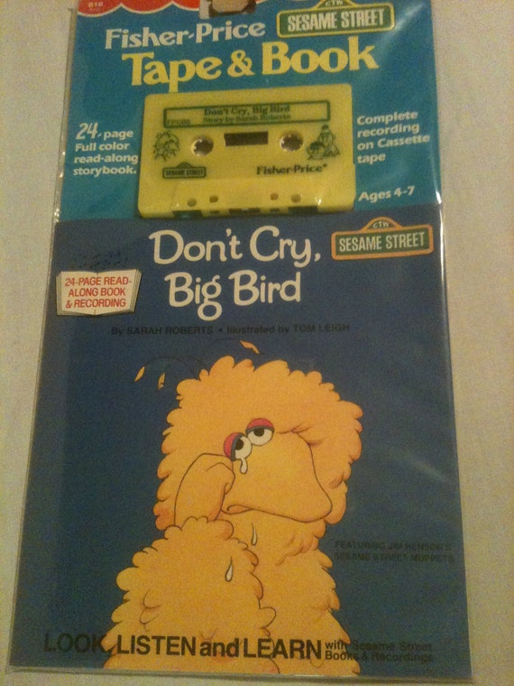 Fisher Price Sesame Street Tape And Book Don T Cry
