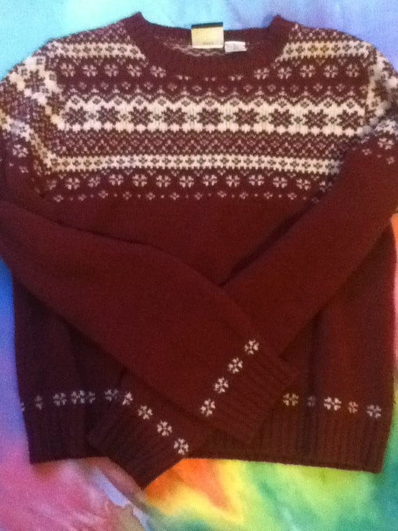 Red and White Winter Sweater