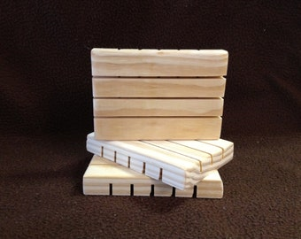 """Twelve 12 Wooden pine Soap dish dishes 3 1/2"""" x 5"""" gift item favors for wedding"""