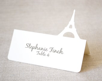 Eiffel Tower Tent Place Cards Set of 24