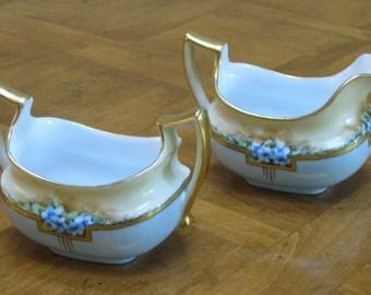 Austrian Art Deco Mini Creamer and Open Sugar Bowl