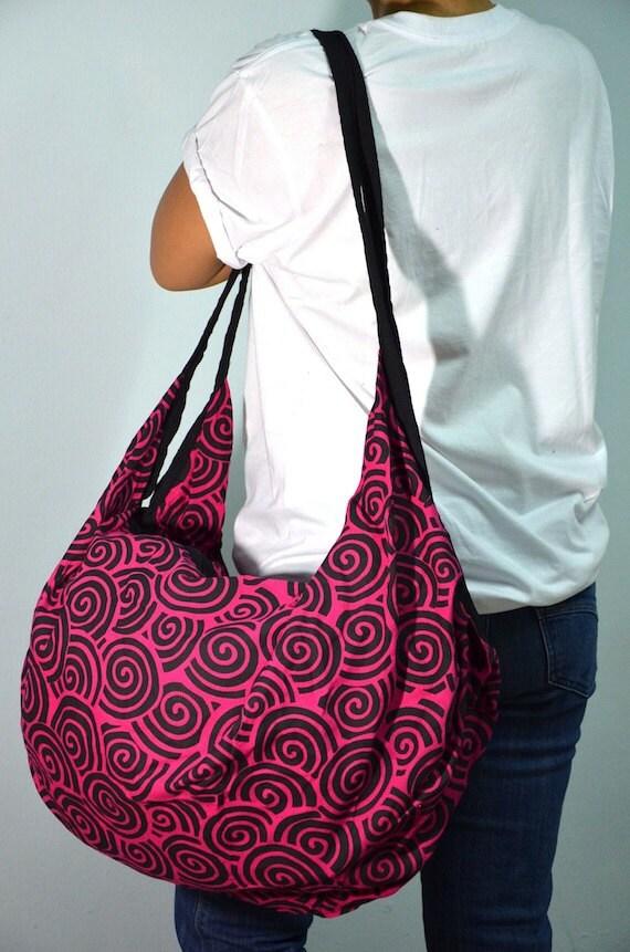 Pink Spiral Hobo Boho Shoulder Bag Summer Crossbody Backpack Tote SPI02