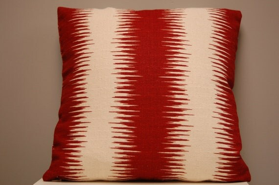 16 inch Premier Prints Ikat Stripe  Pillow Cover