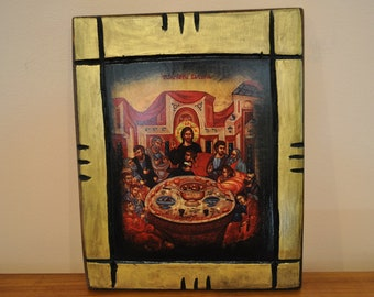 Last Supper, Icon.Unique Religious Art and Gifts for Your Special Ones
