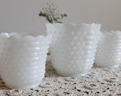 Milk Glass Planters Hobnail, Wedding, Candy Buffet