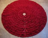 """60"""" Red Ruffles Tree Skirt"""