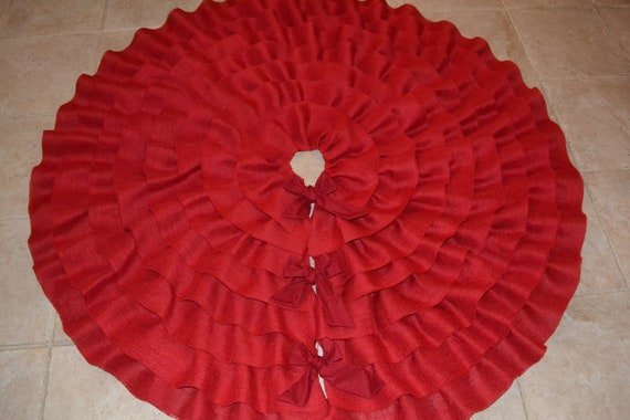 Items similar to sale quot burlap christmas tree skirt