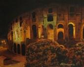 "Original watercolor ""In Rome - In Love"" (9""x12"")"