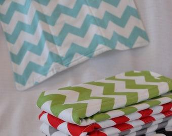 Riley Blake Chevron Burp Cloth (you choose color)
